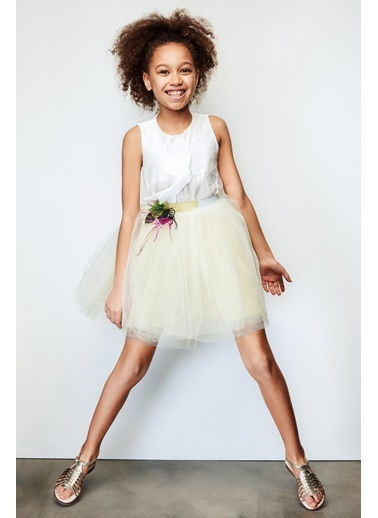 Lia Lea Lia Lea Kız Çocuk Yeşil Etek 19SSLL07223 Yeşil